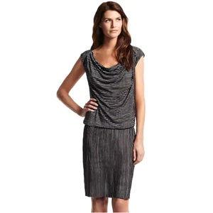 Derek Lam For DesigNation Stripe Drop Waist Dress